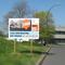 Panneau 4x3 12 m². Panneau de chantier temporaire. Structure bois ou aluminium possible. Impression numérique. Création graphique, installation et réalisation à Créteil département 94 dans le Val de Marne.