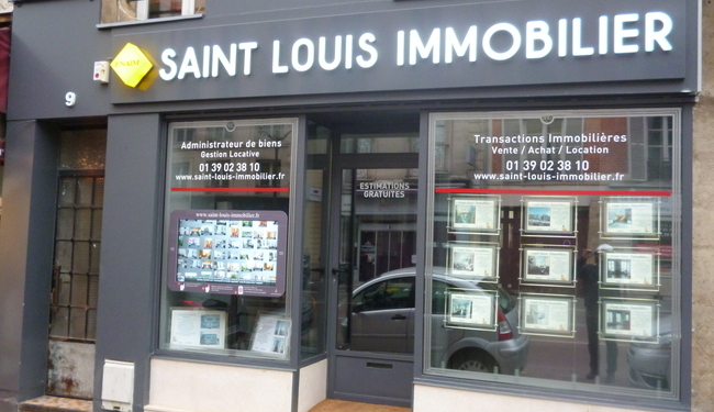 Lettres lumineuses leds faces diffusantes Signarama Versailles