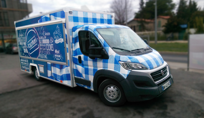 Total covering pour Foodtruck. Cr�ation graphique et r�alisation Signarama Montpellier