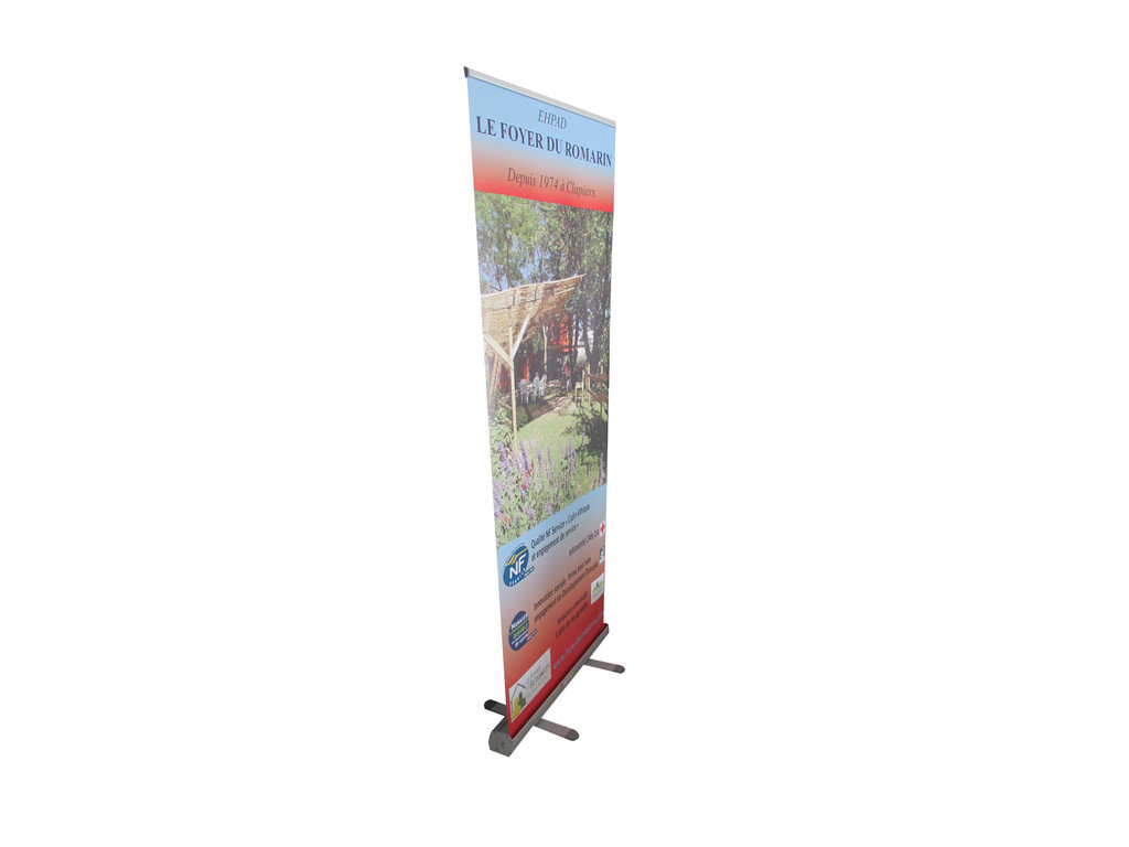Stand deroulant roll up enrouleur for Stand enrouleur