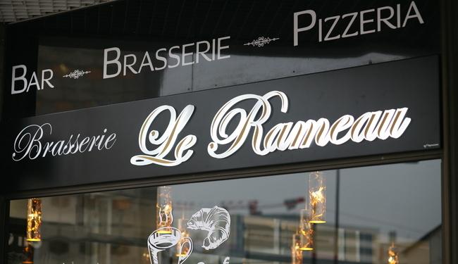 Brasserie Le Rameau - Dijon - Enseigne caisson lumineuse en led et en relief