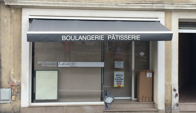 Changement de lambrequin, marquage personnalisé - BOULANGERIE LACARTE -NANCY