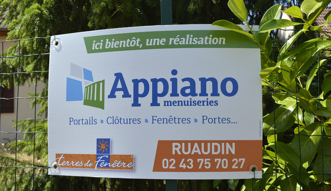 Panneau de chantier impression directe sur Akylux pas cher-Ruaudin, Sarthe