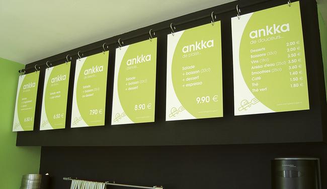 Menu board panneaux design